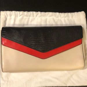 Tricolour Folded Envelope Clutch